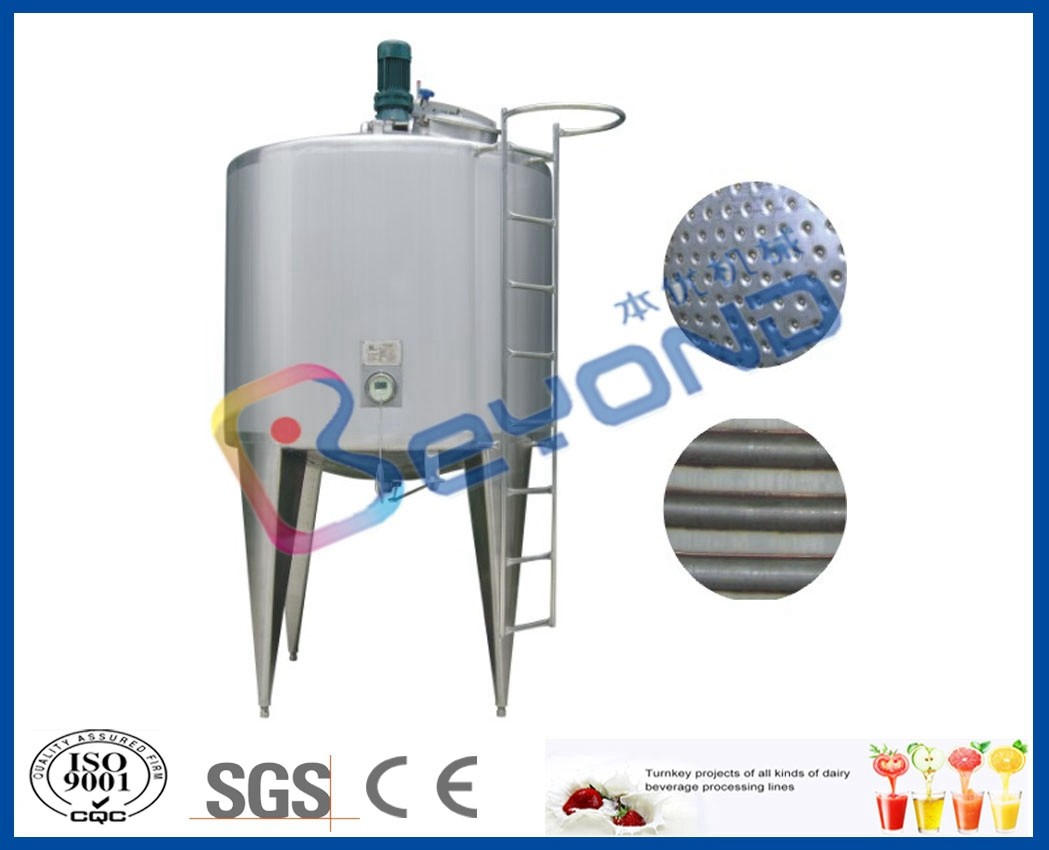 Insulation Coil Type Miller Jacket Stainless Steel Tanks Energy Saving SGS / CE / ISO9001