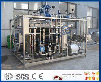 Equipamento da pasteurização do leite do tela táctil do Plc com permutador de calor da placa