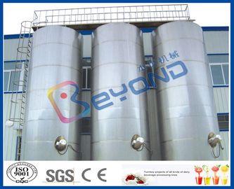 Grande equipamento de leiteria de aço inoxidável de aço inoxidável exterior dos tanques de armazenamento/SUS304 SUS316