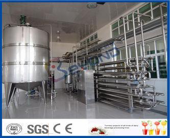 Equipamento asséptico da pasteurização do leite do procedimento para a fábrica de tratamento do leite